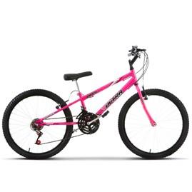 Bicicleta Aro 24 Pro Tork Ultra Freio V Brake Rosa Rebaixada