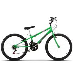 Bicicleta Aro 24 Pro Tork Ultra Freio V Break Verde KW Rebaixada