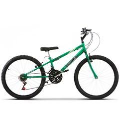 Bicicleta Aro 24 Pro Tork Ultra Freio V Break Verde Rebaixada