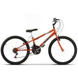 Bicicleta Aro 24 Rebaixada 18 Marchas Ultra Bikes Chrome Line Laranja