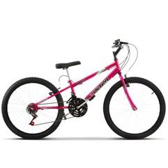 Bicicleta Aro 24 Rebaixada 18 Marchas Ultra Bikes Chrome Line Pink