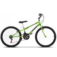 Bicicleta Aro 24 Rebaixada 18 Marchas Ultra Bikes Chrome Line Verde