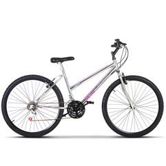 Bicicleta Aro 26 Feminina 18 Marchas Ultra Bikes Chrome Line Cromada