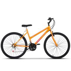 Bicicleta Aro 26 Feminina 18 Marchas Ultra Bikes Laranja
