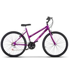 Bicicleta Aro 26 Feminina 18 Marchas Ultra Bikes Lilás