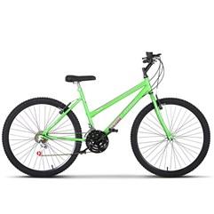 Bicicleta Aro 26 Feminina 18 Marchas Ultra Bikes Verde KW