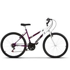 Bicicleta Aro 26 Feminina Bicolor 18 Marchas Aço Carbono Ultra Bikes