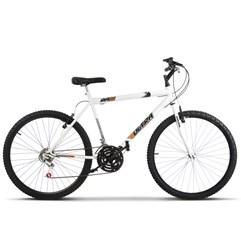 Bicicleta Aro 26 Masculina 18 Marchas Ultra Bikes Branca