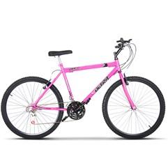 Bicicleta Aro 26 Masculina 18 Marchas Ultra Bikes Rosa