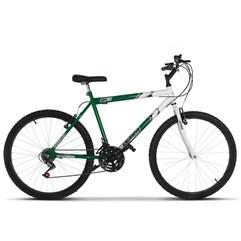 Bicicleta Aro 26 Masculina Bicolor 18 Marchas Ultra Bikes Verde e Branco