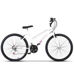 Bicicleta Aro 26 Pro Tork Ultra Feminino Freio V Break Branco