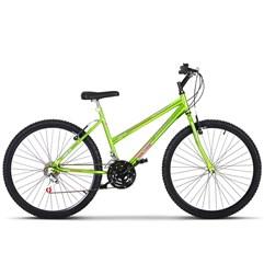 Bicicleta Aro 26 Pro Tork Ultra Feminino Freio V Break Chrome Line Green