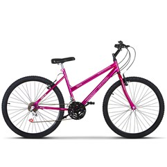 Bicicleta Aro 26 Pro Tork Ultra Feminino Freio V Break Chrome Line Pink