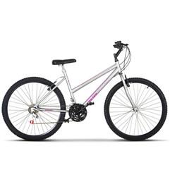 Bicicleta Aro 26 Pro Tork Ultra Feminino Freio V Break Cinza