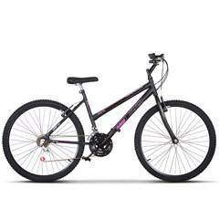 Bicicleta Aro 26 Pro Tork Ultra Feminino Freio V Break Preto Fosco