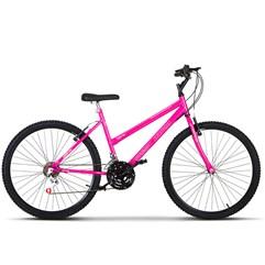 Bicicleta Aro 26 Pro Tork Ultra Feminino Freio V Break Rosa