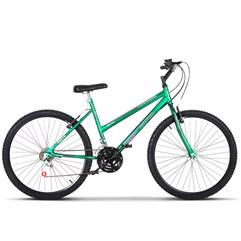 Bicicleta Aro 26 Pro Tork Ultra Feminino Freio V Break Verde