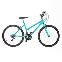 Bicicleta Aro 26 Pro Tork Ultra Feminino Freio V Break Verde Anis