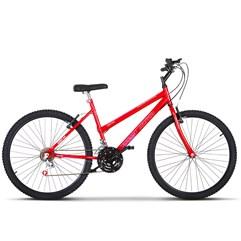 Bicicleta Aro 26 Pro Tork Ultra Feminino Freio V Break Vermelho