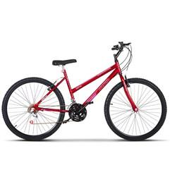 Bicicleta Aro 26 Pro Tork Ultra Feminino Freio V Break Vermelho Ferrari