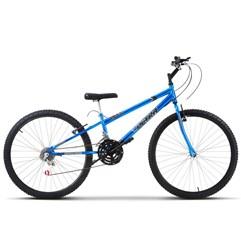 Bicicleta Aro 26 Rebaixada 18 Marchas Ultra Bikes Chrome Line Azul