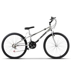 Bicicleta Aro 26 Rebaixada 18 Marchas Ultra Bikes Chrome Line Cromada