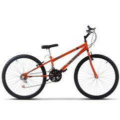 Bicicleta Aro 26 Rebaixada 18 Marchas Ultra Bikes Chrome Line Laranja