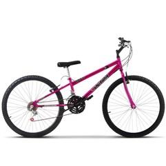 Bicicleta Aro 26 Rebaixada 18 Marchas Ultra Bikes Chrome Line Pink