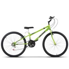 Bicicleta Aro 26 Rebaixada 18 Marchas Ultra Bikes Chrome Line Verde