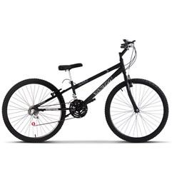 Bicicleta Aro 26 Rebaixada 18 Marchas Ultra Bikes Preto Fosco