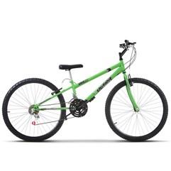 Bicicleta Aro 26 Rebaixada 18 Marchas Ultra Bikes Verde KW