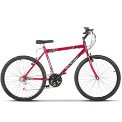 Bicicleta Bike Ultra Masculino Aro 26 Freio V Brake Vermelho