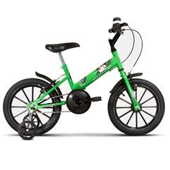 Bicicleta Infantil Com Rodinhas Ultra Kids T Verde KW/Preto