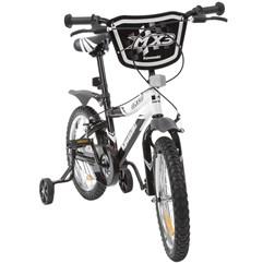 Bicicleta Kawasaki MX3 Aro 16 Preto/Branco Infantil