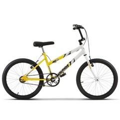 Bicicleta Ultra Aro 20 Feminina Bicolor Amarelo/Branco Freio V Break