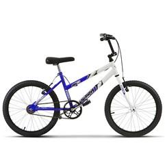 Bicicleta Ultra Aro 20 Feminina Bicolor Branco/Azul Freio V Break