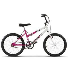 Bicicleta Ultra Aro 20 Feminina Bicolor Rosa/Branco Freio V Break