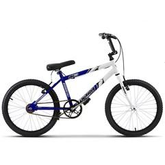 Bicicleta Ultra Aro 20 Masculina Bicolor Branco/Azul Freio V Break