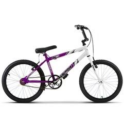 Bicicleta Ultra Aro 20 Masculina Bicolor Lilás/Branco Freio V Break