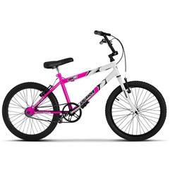 Bicicleta Ultra Aro 20 Masculina Bicolor Rosa/Branco Freio V Break