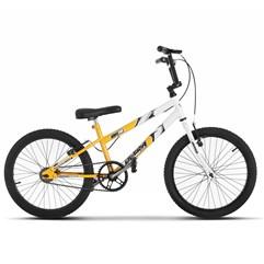 Bicicleta Ultra Aro 20 Rebaixada Bicolor Amarelo/Branco Freio V Break