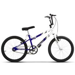 Bicicleta Ultra Aro 20 Rebaixada Bicolor Branco/Azul Freio V Break