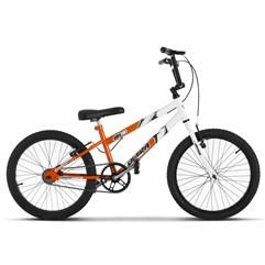 Bicicleta Ultra Aro 20 Rebaixada Bicolor Laranja/Branco Freio V Break
