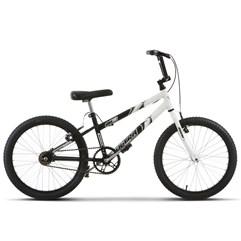 Bicicleta Ultra Aro 20 Rebaixada Bicolor Preto/Branco Freio V Break