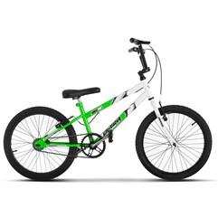 Bicicleta Ultra Aro 20 Rebaixada Bicolor Verde KW Freio V Break