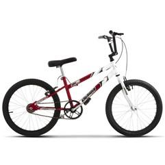 Bicicleta Ultra Aro 20 Rebaixada Bicolor Vermelho/Branco Freio V Break