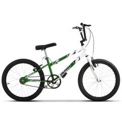 Bicicleta Ultra Aro 20 Rebaixada Verde e Branco Bicolor Freio V Break