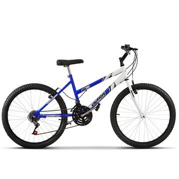 Bicicleta Ultra Aro 24 Feminina Bicolor Freio V Break