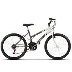 Bicicleta Ultra Aro 24 Feminina Bicolor Space Gray Freio V Break