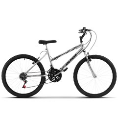 Bicicleta Ultra Aro 24 Feminina Freio V Break Chrome Line